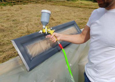 York UPVC Window Spraying